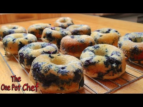 EASY PEASY! Fresh Blueberry Donuts at Home