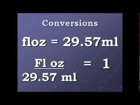 Conversion Video Fluid Ounce to Milliliters and back again.wmv