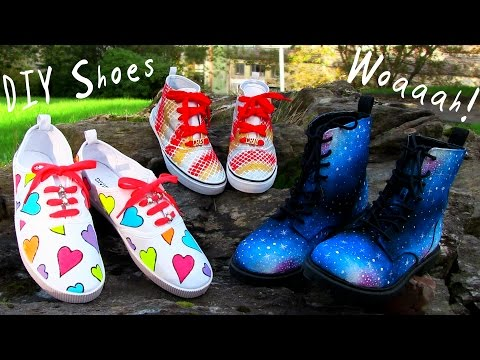 , title : 'DIY Clothes! 3 DIY Shoes Projects (DIY Sneakers, Boots, Fashion & More). Amazing!'