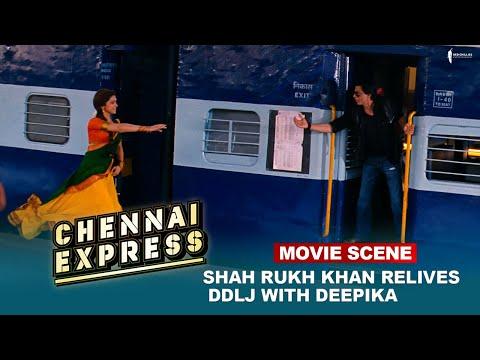 Shah Rukh Khan relives DDLJ with Deepika   Movie Scene   Chennai Express   A film by Rohit Shetty