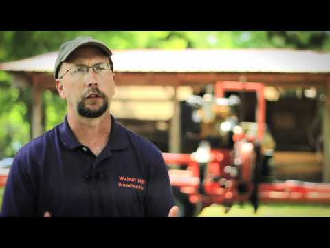 In this video, Walnut Hill Woodworks shows off the power and efficiency of its portable sawmill.
