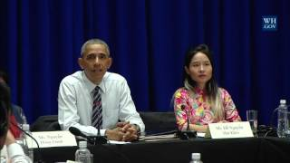 President Obama Meets with Members of Civil Society
