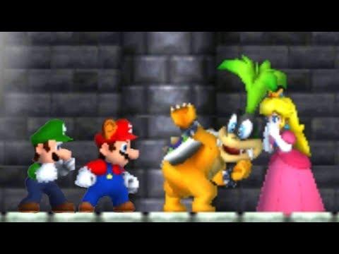 New Super Mario Bros 2 - 100% Co-Op Walkthrough - World 1 (All Star Coins & Secret Exits) (видео)