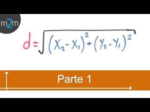 Berechnung der Entfernung zwischen zwei Punkten (Teil 1/2)