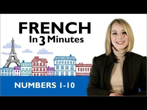 Die französischen Zahlen 1-10