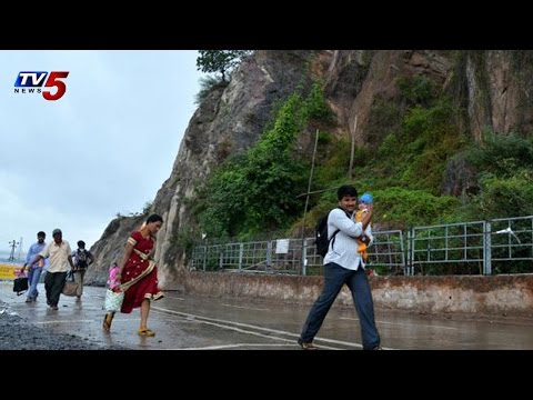 Landslides at Indrakeeladri Hills Vijayawada : TV5 News