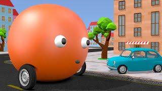 transformer toy car cartoon with nursery rhymes song