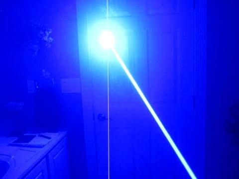 Homemade 1000mW Blue Laser Pocket Burner!