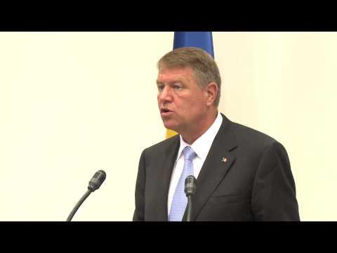 Declarațiile de presă ale președinților Nicolae Timofti și Klaus Werner Iohannis, la Suceava