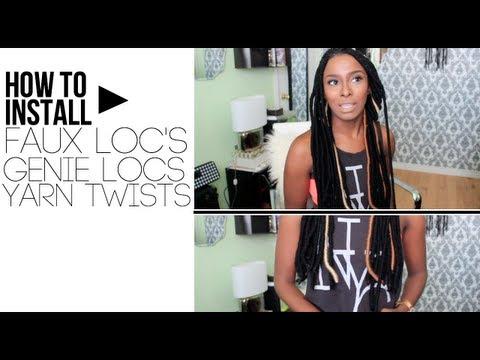 How To Install Faux Locs/ Yarn Twists/ Yarn Wraps