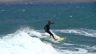 surfing Fuerteventura East Coast - slow motion 4 time slower