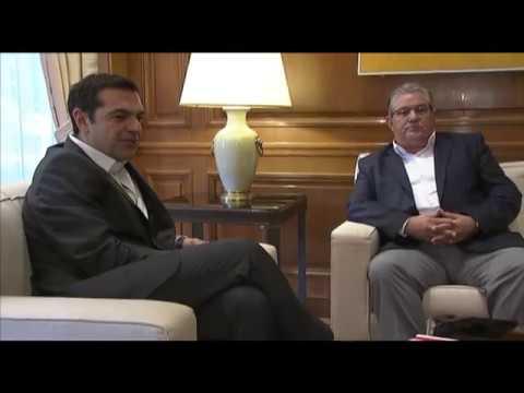 Συνάντηση με τον κ. Δημήτρη Κουτσούμπα για την συμφωνία στο Eurogroup και το Κυπριακό