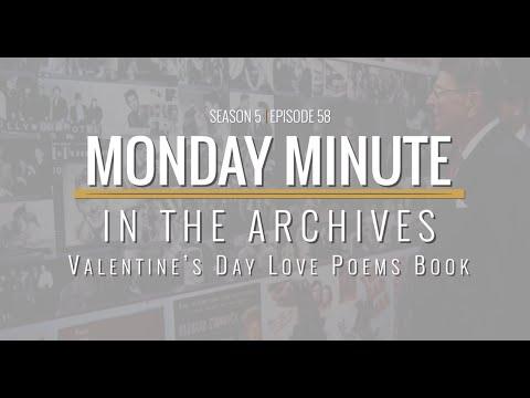 Monday Minute (Season 5) Ep 58 - Valentine's Day Love Poems Book