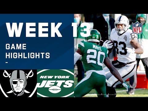 Raiders vs. Jets Week 13 Highlights | NFL 2020