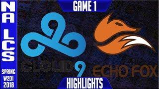Video C9 vs FOX Highlights | NALCS Spring 2018 S8 W2D1 | Cloud9 vs Echo Fox Highllights MP3, 3GP, MP4, WEBM, AVI, FLV Agustus 2018