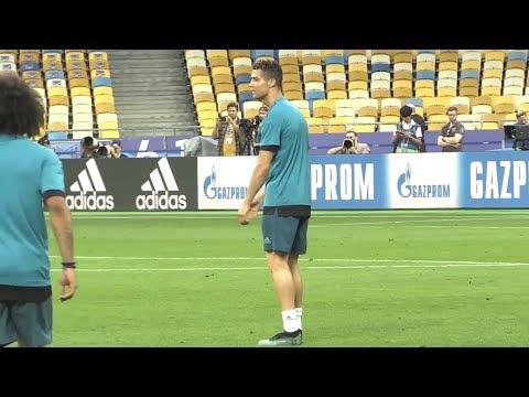 Real Madrid Train At The Olympic Stadium, Kiev Ahead Of Champions League Final v Liverpool (видео)