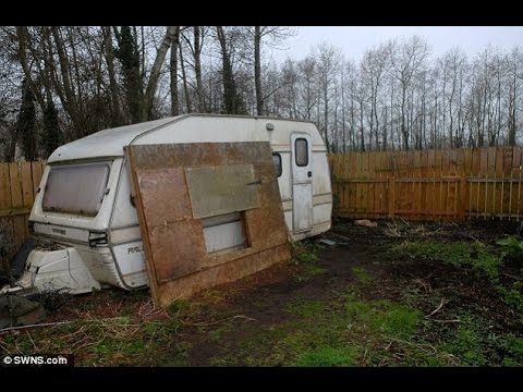 Now that's an underground operation! Gang cut trapdoor in caravan leading to subterranean