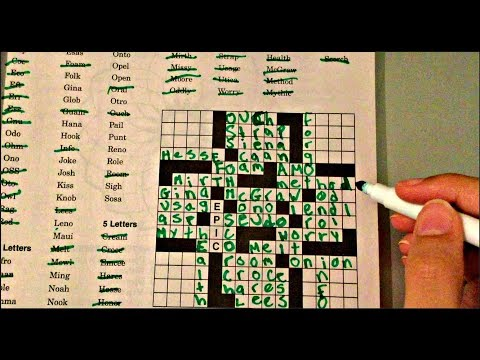 Reverse Crossword ASMR - Solve A Puzzle With Me