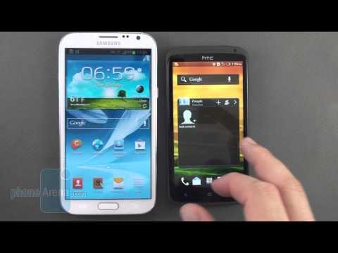 Samsung Galaxy Note2 vs HTC One X 開箱比較影片