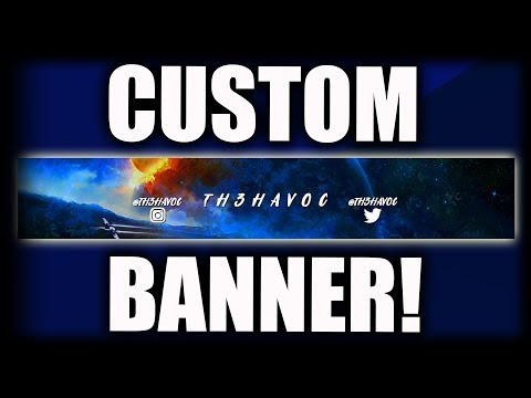 How To Make A YouTube Banner WITHOUT Photoshop! (Pixlr Tutorial) Make A YouTube Banner For FREE 2019