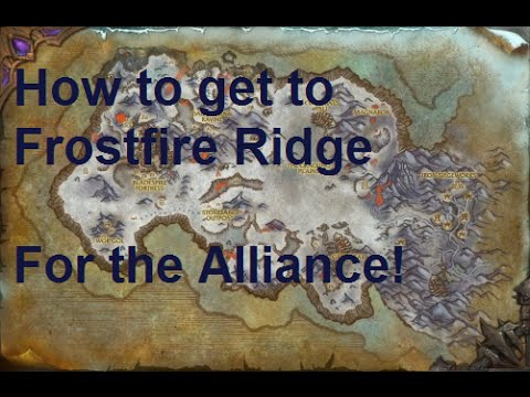 how to get to frostfire ridge