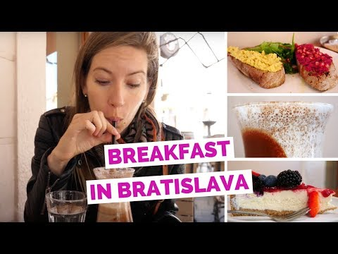 Breakfast in Bratislava, Slovakia