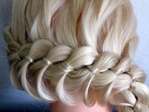 Косы плетение на средний волос