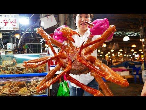 Mon ăn đường phố Hàn Quốc - Cua huỳnh đế khổng lồ sup Hải sản - Thời lượng: 18:25.