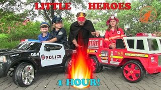 Video Little Heroes Compilation Video -1 Hour with The Spark, The Stealer, Fire Engines and Kid Cops MP3, 3GP, MP4, WEBM, AVI, FLV Agustus 2017