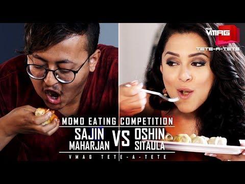 Oshin Vs Sajin - Momo Eating Competition