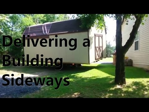 Delivering a Building Sideways - Helmuth Builders