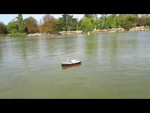 Bateau Vapeur / Steamboat / Dampfboot : Daumesnil - Modélisme RC - Le Black Pig de Serge