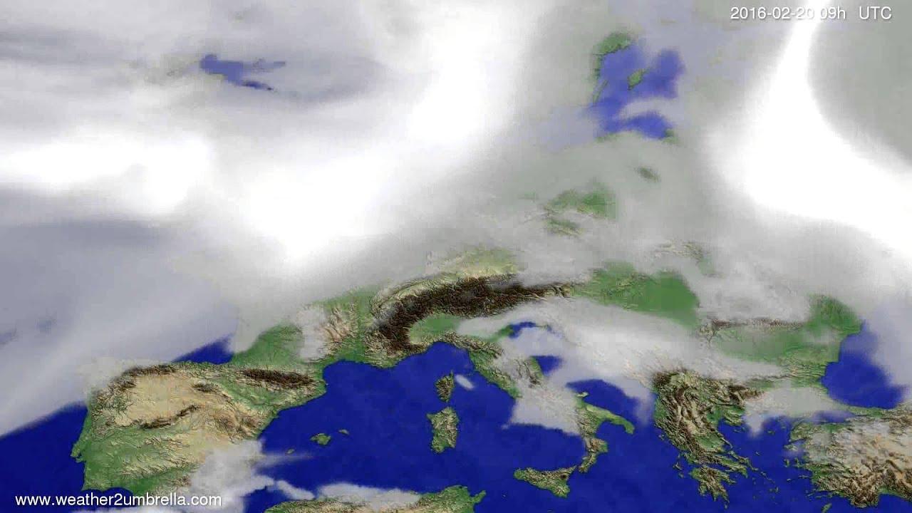 Cloud forecast Europe 2016-02-16