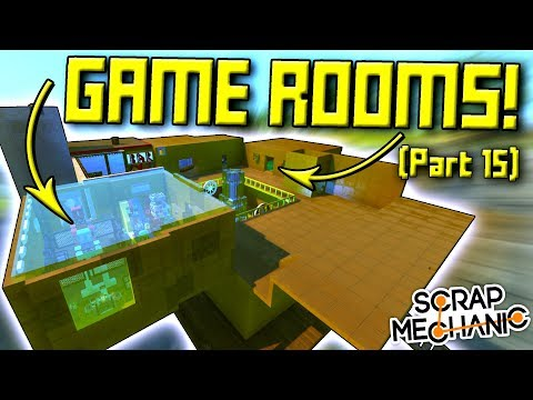 GAME ROOMS and STEAMPUNK WINDOWS! (Suspended Mountain Base Part 15) - Scrap Mechanic Gameplay (видео)