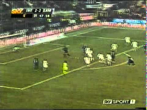 Gol del 3-2 di Inter Sampdoria di Recoba
