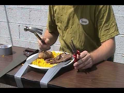 How to eat with tools
