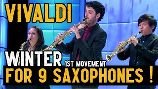Video Vivaldi for 9 Saxophones (Winter / Four Seasons) MP3, 3GP, MP4, WEBM, AVI, FLV Desember 2018