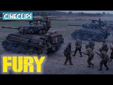Anti-Tank Gun Fight   Fury   CineClips