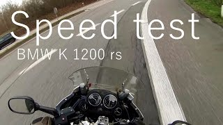 5. BMW K1200RS/SPEED TEST, 230km/h with GoPro on helmet.
