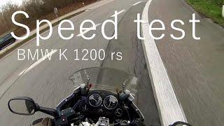 8. Speed test Bmw K1200RS, 230km/h with GoPro on helmet.