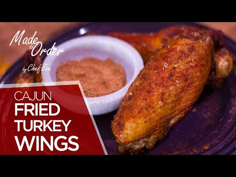 Cajun Fried Turkey Wings | Thanksgiving Special | Made To Order | Chef Zee Cooks