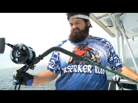monster - Alex Stevens from Berserker Rods joined BlacktipH and Kanalgratisdotse on a goliath grouper fishing trip. Alex wanted to prove that he could catch a monster goliath grouper in a stand-up harness....