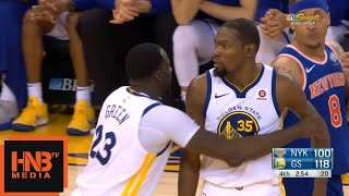 Kevin Durant Ejected From Game / GS Warriors vs Knicks