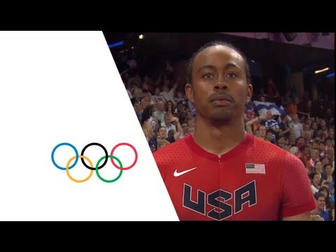 olympics - The USA's Aries Merritt wins the gold medal in the men's 110m hurdles event at the London 2012 Olympic Games (8 August). Merritt was followed by his compatri...