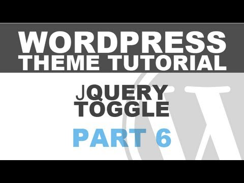 Responsive WordPress Theme Tutorial – Part 6 – jQuery Toggle Menu