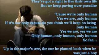 Only Human - Jason Mraz (lyrics on screen)