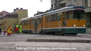 Norrkoping Sweden  city pictures gallery : Trams in Norrköping, Sweden, part 4