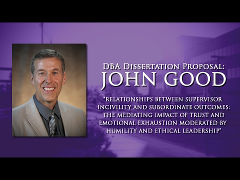 DBA Dissertation Proposal: John Good