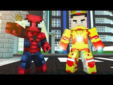 SPIDERMAN VÀ NGƯỜI SẮT GIẢI CỨU ELSA - Minecraft Siêu Anh Hùng - Thời lượng: 13:44.