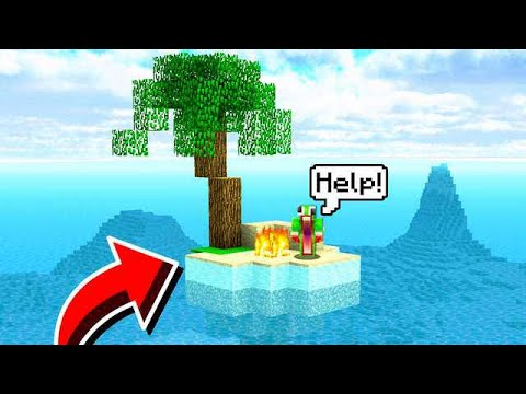 STRANDED ON AN ISLAND IN MINECRAFT! HELP!